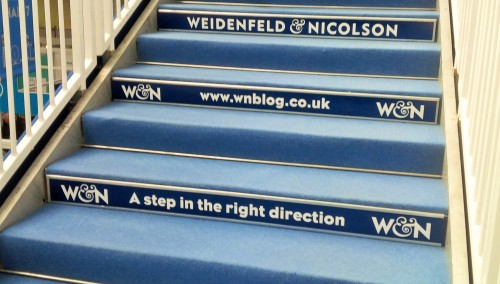London Book Fair stairs