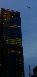 City Skyscraper + plane