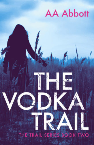 The Vodka Trail, Book 2 in the Trail series of twisting crime thrillers, available in dyslexia-friendly large print