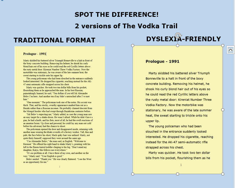 The Books Are Printed Using Compare The Traditional And Dyslexia Friendly Large Print Versions Of Page  Of The