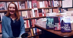 AA Abbott reads the first chapter of crime thriller, The Grass Trail, at Hatchards Bookstore, London