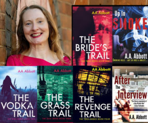 crime story writer AA Abbott with about six crime thriller books