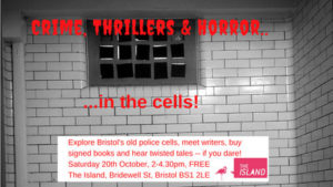 litfest crime thriller and horror book fair in bristol's old police cells