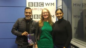AA Abbott chats about Birmingham and dyslexia friendly books with Sunny and Shay on BBC Radio WM