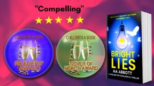 psychological thriller bright lies with two chill with a book awards